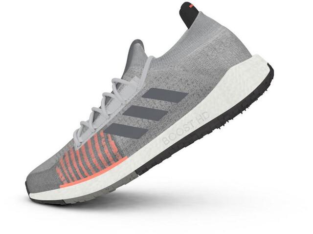 adidas Pulseboost HD Zapatillas Hombre, grey two/grey six/signal coral